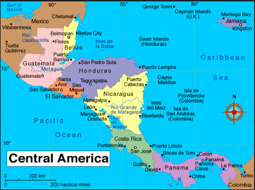 Mapa Centroamericano