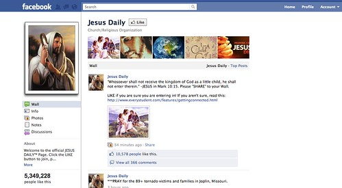 Jesus on FB