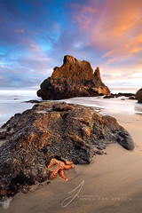 I stood beneath an orange sky (Jinna van Ringen) Tags: california longexposure cali starfish elusive malibubeach jinna malibucalifornia elmatadorstatebeach leefilters elusivephoto singhrayfilter 5dmarkii 5dmkii jorindevanringen jinnavanringen