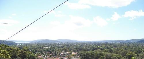Woy Woy Peninsula & Brisbane Water from Timbertop Drive Woy Woy