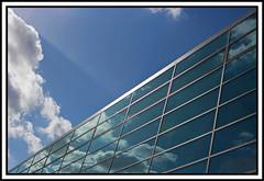 Darmstadtium (element 110) (xollob58) Tags: windows glass clouds reflections germany deutschland raw hessen fenster angles wolken winkel darmstadt glas hesse photoshopelements spiegelungen darmstadium