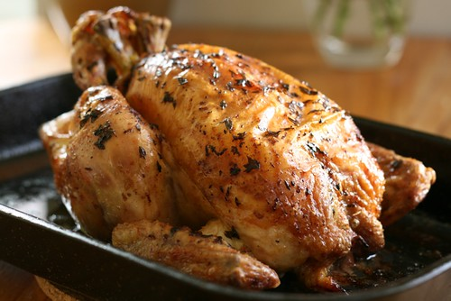 Lemon and garlic roast chicken 3