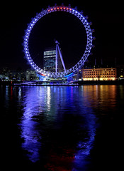 London Eye (Masood Sharif) Tags: blue london eye water thames night londoneye masoodsharif iffir httpmasoodsharifblogspotcom