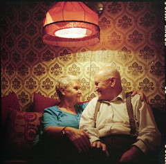 love (marlrly) Tags: love 6x6 mediumformat lomo couple warm emotion sweet kodakportra400vc retro grandparents lubitel cosy relations sence