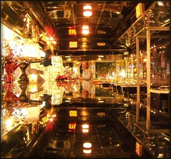 Diner : Diner (Tony Fischer Photography) Tags: new york nyc ny newyork reflection gold mirror golden bright diner double sparkle exit shin blueribbonwinner cotcmostinteresting abigfave goldstaraward ilovemypics citydinerempire
