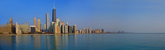 Chicago Skyline from Olive Park (doug.siefken) Tags: city urban chicago art painting geotagged moving flickr downtown cityscape foto image doug cities favorites images uptown r fotos getty douglas urbanscape streeterville urbanscapes citscapes chicagoan siefken dougsiefken