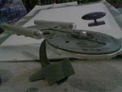 trek style ship in progress 2 (casio_beatnik) Tags: startrek spaceship enterprise kitbash nacelles