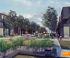 vision for a residential street in Greensburg (credit: BNIM Architects)