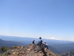 Theboys and Rainier from summit of Miller