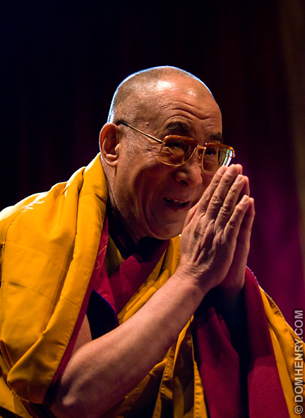 The Dalai Lama - photo by Dom Henry (c)