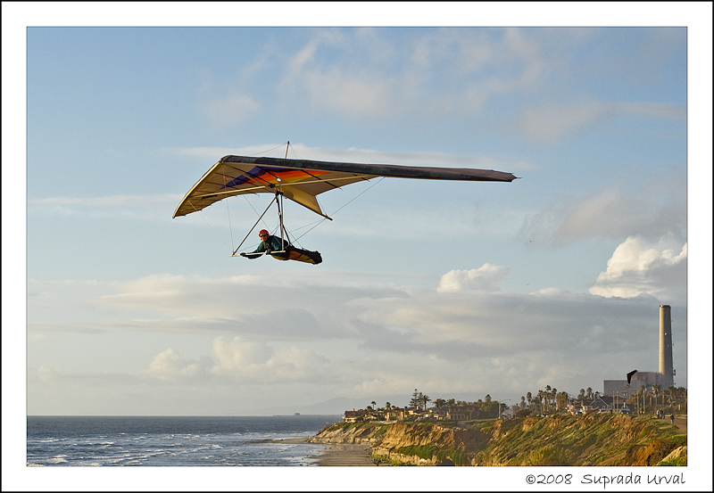 Hang Glider at a San Diego Beach