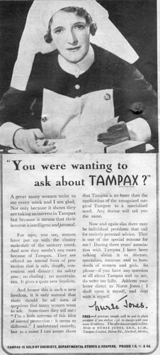 Woman's Weekly Tampax ad 1940