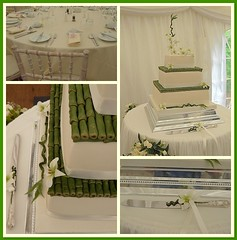 Safely delivered! ...... (abbietabbie) Tags: wedding cake marquee weddingcake bamboo icing marzipan fondant orcids sugarflowers mywinners richfruitcake