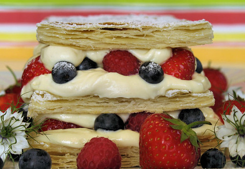 Summer berry mille-feuille 3862