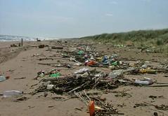 Beautiful Beach? (Jooliree) Tags: blue sea sky italy beach water fruit trash sand mess bottles juice dunes pop plastic rubbish mineral week49 throwawaysociety chieuti 7daysofshooting wornoutandweathered drinksandbeverages wheredoyouthinkallyourcrapgoeswhenyouthrowitaway