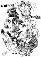 GRIMM, Jacob & Wilhelm (Morales de los Ros) Tags: writers caricaturas philosophers caricatures escritores filsofos