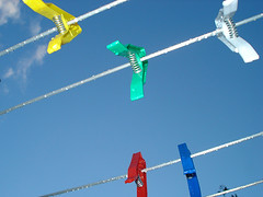 pegs (Urbanimp) Tags: sky sun bluesky raindrops pegs washingline
