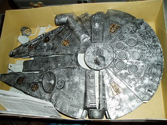 silver & gold MF2 (casio_beatnik) Tags: starwars paint crap falcon scifi battlestar spaceships cylon kitbash