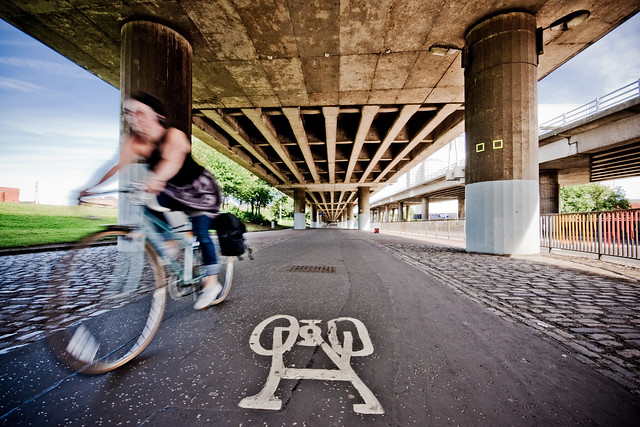 Cycling under the M8