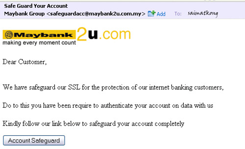Maybank2u Hack Safe Guard Your Account