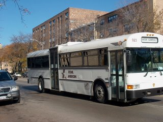 Modified International school bus. Chicago Illinois. November 2006.