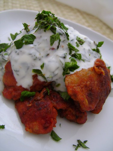 Paprika Chicken Livers with Coriander & Mint Yogurt