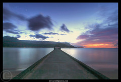 a Night in Kauai (Arnold Pouteau's) Tags: ocean sunset night hawaii bay pier pacific kauai hanalei mywinners colorphotoaward diamondclassphotographer flickrdiamond