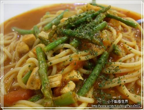 蘆筍鮭魚義大利麵