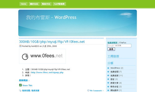 我的布雷斯 - WordPress
