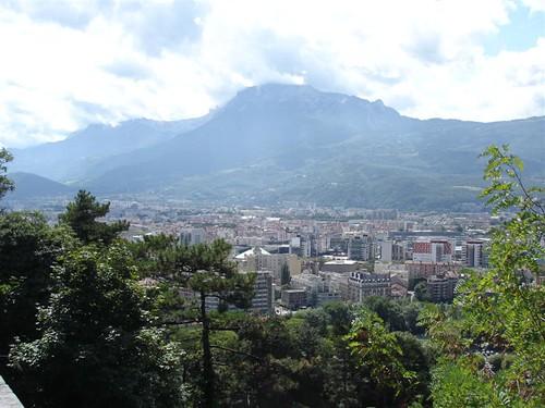 Vue depuis le chemin de la Bastille Grenoble