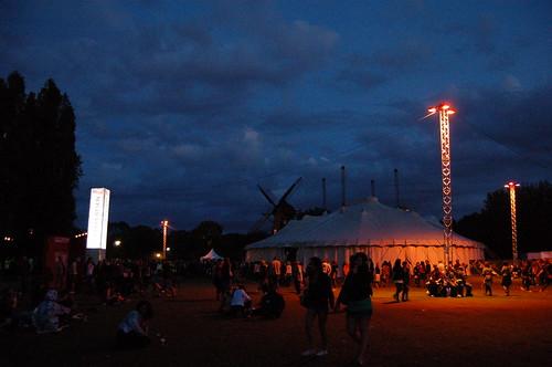 風車とステージ