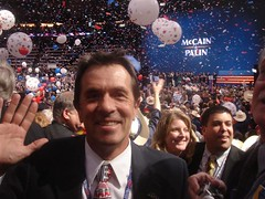 Buddy Burke of Walnut Creek at the 2008 Republican National Convention in St. Paul, Minn.