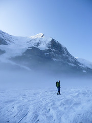 Climbing the Athabasca Glacier and Mt Andromeda (mike.palic) Tags: snow canada ice fog jasper glacier climbing alpine athabasca
