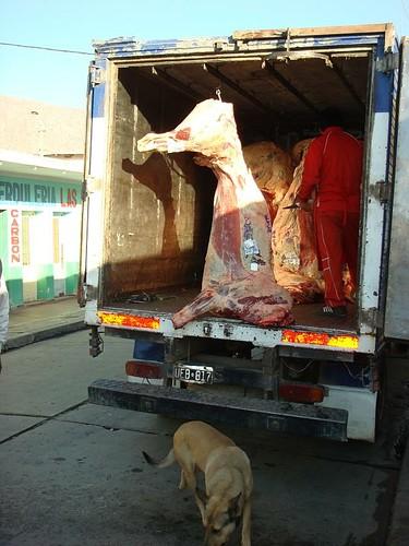 Carniceria truck in Cafayate...