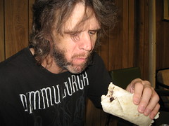 Bruce & a burrito