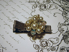 Snow Queen Vintage Barrette (chaptercharms) Tags: vintage dressy barrette hairclip hairaccessory hairjewel