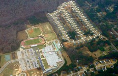 a sprawling high school, disconnected from its community (courtesy of Smart Growth America)