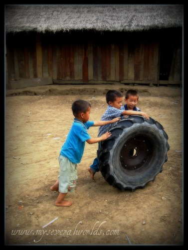 Tire Boys in Northern Laos