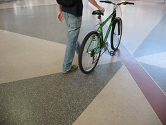 He's got the right idea (lastonein) Tags: green bicycle transportation commuting hybrid southstation terrazzo