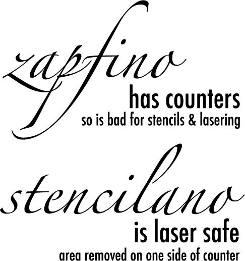 Stencilano detail