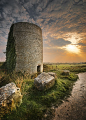 medieval mill, portland, dorset, uk (petervanallen) Tags: uk sunset mill windmill photoshop portland landscape nikon bravo medieval burn dorset layer dodge hdr adjustment adobecameraraw jurassiccoast d90 photomatix sigma1020 dodgeandburn d80 3exp petervanallencom dilosep08