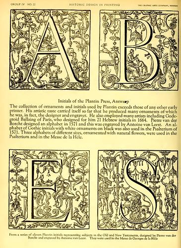 20a- Plantillas de iniciales diseñadas por Pierre van der Borcht en 1571