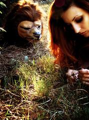 Orphan (Iris Syzlack) Tags: selfportrait grass mask autoportrait lion orphan redhead fifi rousse herbe masque patchouli orpheline fifipatchouli