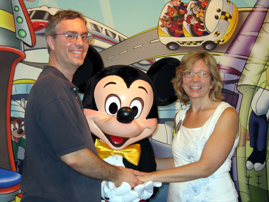 Us with Mickey (Click to enlarge)