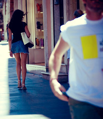 (juliusfrumble) Tags: street girl walking nikon shortskirt supershortskirt