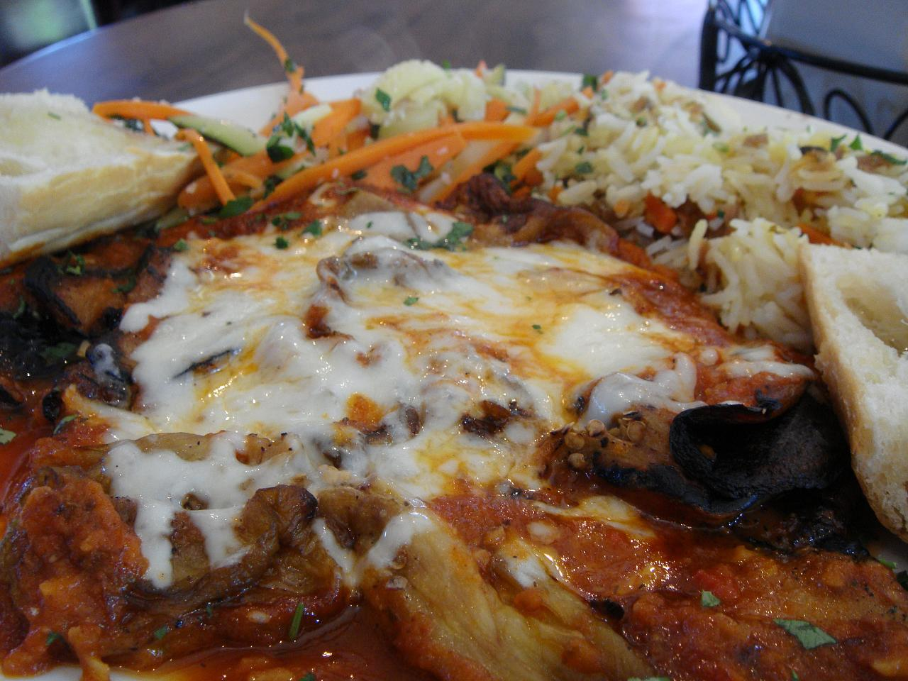 Eggplant Parmesan close-up