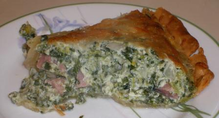 Slice of Spinach Country Ham Quiche