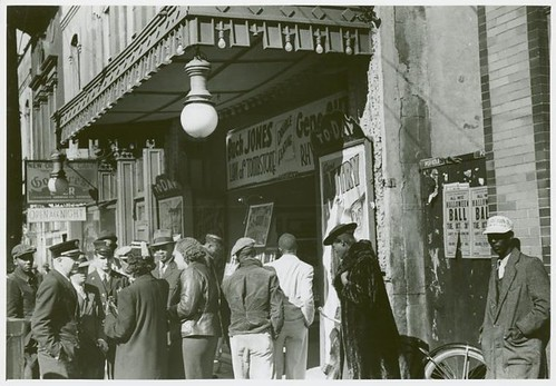 Entrance to a movie house, Beale Street, Memphis, Tennessee,...