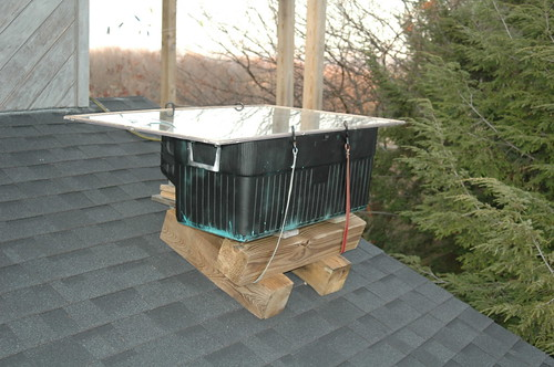 Building an outdoor gravityfed solarheated shower JMillVille