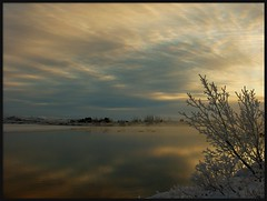 Winter sunset (oeiriks) Tags: winter sunset lake ice water iceland laugarvatn bej mywinners sonyalpha350 ubej